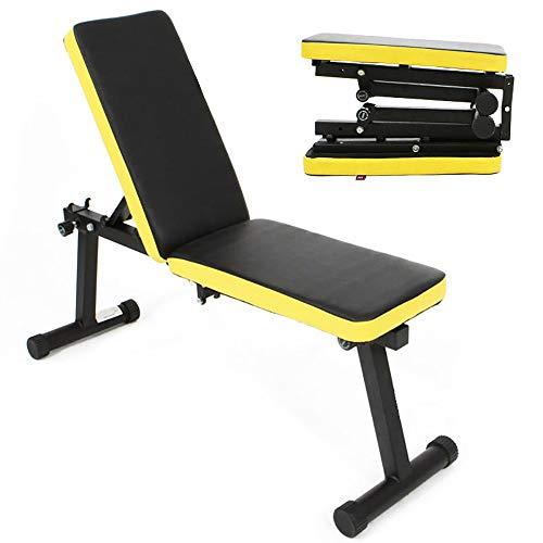 SogesHome Banco de pesas plegable ajustable para entrenamiento de cuerpo completo para gimnasio en casa Multifunción Antideslizante para de espalda abdominal Bancos de pesas de fuerza,SH-PSBB003