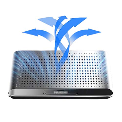 Aveo Laptop Cooling Pad, Computer Portatile del Dispositivo di Raffreddamento Cooling Pad Notebook Cooler Cooling Stand Cooling Pad Mat, 2 Porta USB, Lega di Alluminio