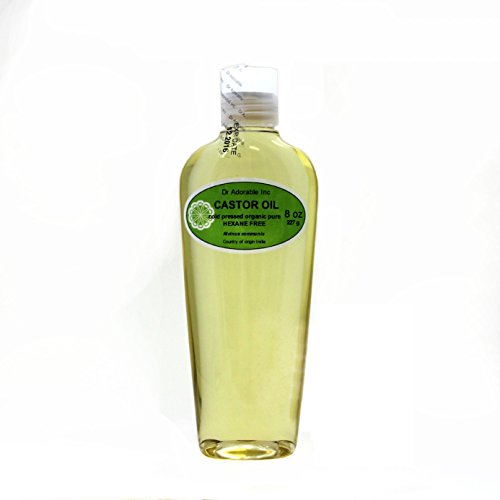 Organic Pure Carrier Oils Cold Pressed 8 oz (Castor Oil)