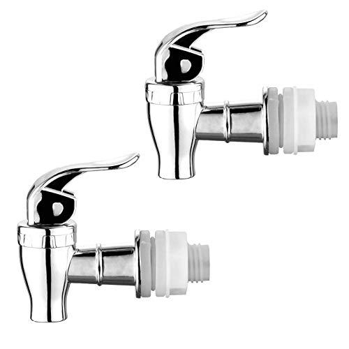 2 Pack Push Style faucet for Beverage Dispenser Carafe, Beverage Dispenser Replacement Spigot,Lever Pour Spout For Beverage Dispenser