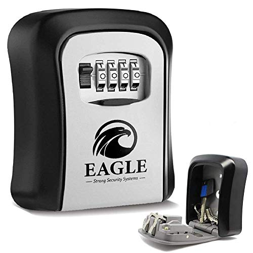 EAGLE LOCK® Boite à clé sécurisée a code ➕ Nouveau Crochet ~ Boite a clefs sécurisée extérieur ✔️Airbnb✔️Aide-soignants✔️Badges [GARANTIE A VIE]