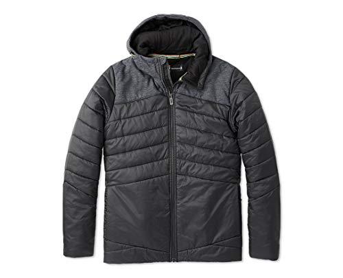 Smartwool Men's Smartloft 150 Hoodie - Merino Wool Performance Hooded Sweatshirt Black Medium