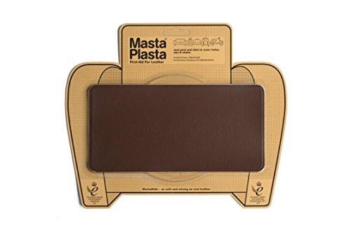 MastaPlasta - Parches autoadhesivos para reparación de Cuero y Otros Tejidos. MARRÓN Medio. Elije el tamaño y el diseño. Primeros Auxilios para sofás, Asientos de Coche, Bolsos, Chaquetas