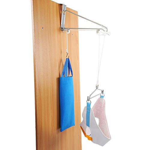 Dispositivo de tracción del cuello cervical, kit completo de tracción cervical suspendido por puerta de tracción de la vértebra cervical quiropráctica terapia de ajuste alivio del dolor ✅