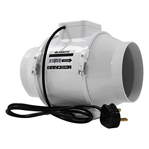 VENTS UK Abluftventilator für Kohlefilter, 125 mm