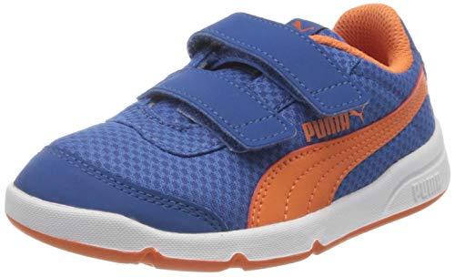 PUMA Stepfleex 2 Mesh VE V PS, Scarpe da Ginnastica Unisex-Bambini, Blu (Bright Cobalt-Firecracker White), 35 EU
