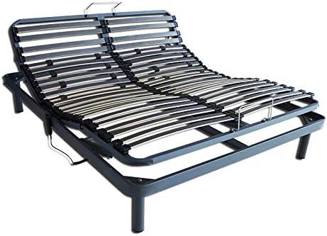 Ventadecolchones - Cama Articulada Reforzada Adaptator con Motor eléctrico y Mando inalámbrico Medida 180 x 190 cm (2 unds 90 x 190 cm + unión)