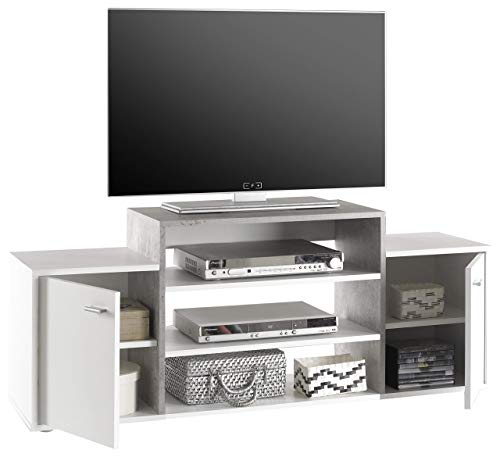 Stella Trading Space TV Lowboard, Holz, weiß, 138 x 36 x 56 cm