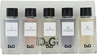 Dolce & Gabbana Variety Gift Set 5 Piece Unisex Mini Variety With D & G 1 Le Bateleur & D & G 10 La Roue De La Fortune & D & G 18 La Lune & D & G 3 L'imperatrice & D & G 6 L'amoureux And All Are Eau de Toilette 0.67 oz & Pouch 5 pcs