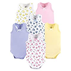 Set includes coordinating sleeveless bodysuits Made with 100% cotton Soft, gentle and comfortable on baby's skin Optimal for everyday use Affordable, high quality value pack
