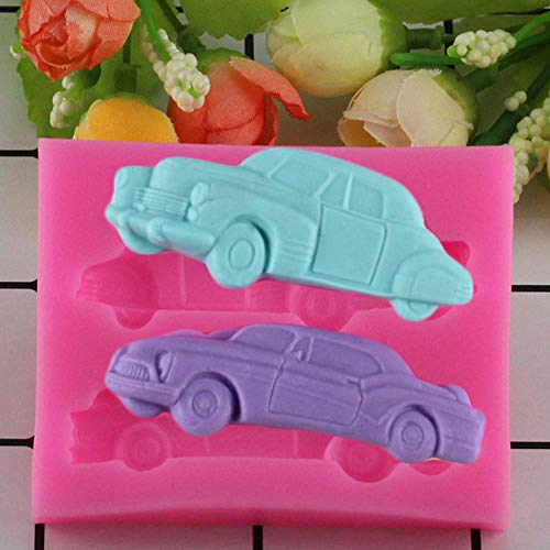 YUIOP DIY Cartoon Car Stampo in Silicone Cioccolato Candy Sugarcraft Stampo Torta Fondente Strumenti di Decorazione Stampi da Cucina