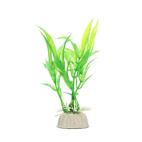 AAGOOD Aquarienpflanzen Dekor Simulation Glücklicher Bambus Garten Landschaft Ornament für Aquarium Unterwasser-Aquarium Dekorationen Grün 1PC
