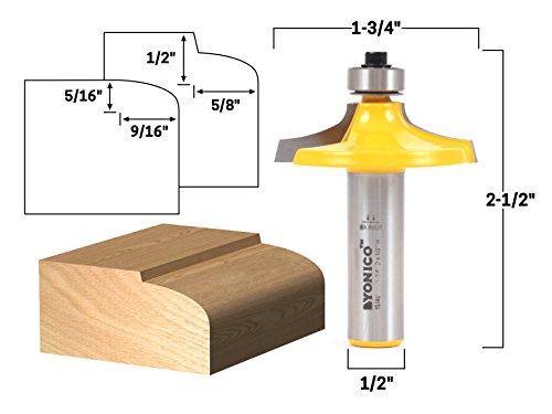 Yonico 13149 5/8-Inch Thumbnail Table Edge Thumbnail Router Bit 1/2-Inch Shank