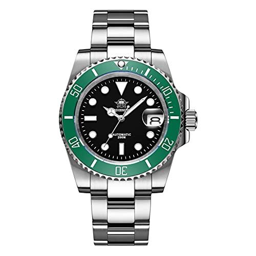 ADDIESDIVE Diver's Orologio automatico da uomo, 200 m, orologio subacqueo...