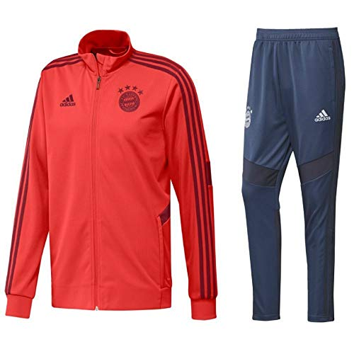 adidas Fußball FCB FC Bayern München Kinder Trainingsanzug 2019/20 Jacke Hose rot Gr 140