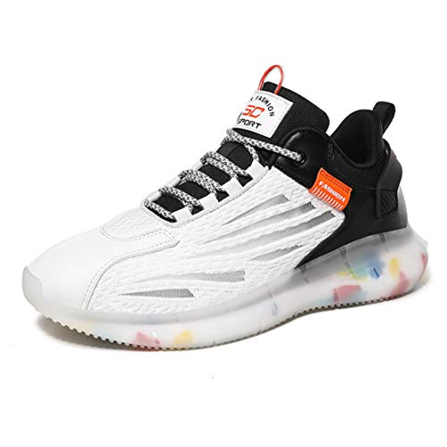 ADFD Zapatillas de Running de Malla Transpirable para Hombre Calzado Deportivo con Amortiguación Clásica Adecuado para Todo Tipo de Deportes y Uso Diario,C,40