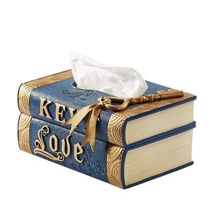 U/D Inicio Papel Papel Prensa dispensador de Tejido húmedo Caja de Almacenamiento de Coche Portable de la Manera de Tejidos Cubierta Caja de la servilleta (Color : Azul, Size : 1)