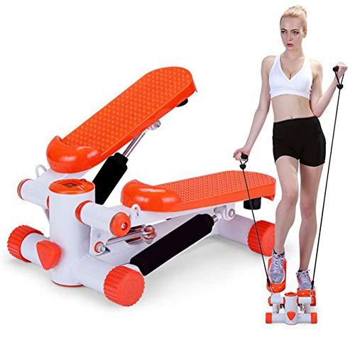 GFYWZ Mini Stair Stepper, Air Stepper Climber Fitnessgerät Mit Widerstandsbändern, Multifunktionale Indoor-Sportgeräte Für Damen Und Herren Orange