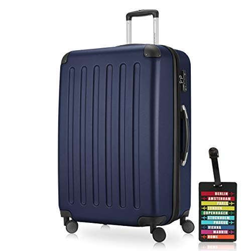 Hauptstadtkoffer, Spree hard-shell suitcase with combination lock and a luggage tag, 1203, dark blue (Blue) - HK1203-DB-128-SALE+KA