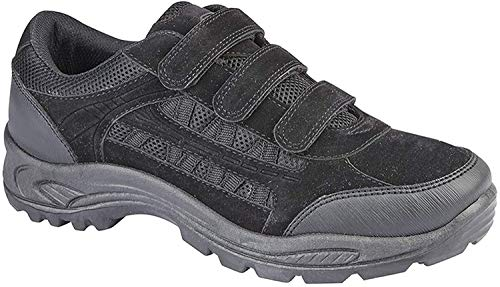 Dek Herren Ascend Trekking-Schuhe/Wanderschuhe / Wanderstiefel mit Klettverschluss (11 UK/45,5 EU) (Schwarz/Grau)