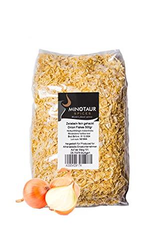 Minotaur Spices | Cipolle tritate Finemente | 2 X 500g (1 kg) | Fiocchi di Cipolla secchi