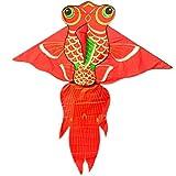 LQW HOME-kite Cometas Grandes para Peces de Colores Cometas Nuevas para niños, fáciles de Volar para niños y Adultos (Color : A, tamaño : M)