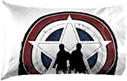 Marvel The Falcon and The Winter Solider 1 Single Pillowcase - Double-Sided Kids Super Soft Bedding (Official Marvel...