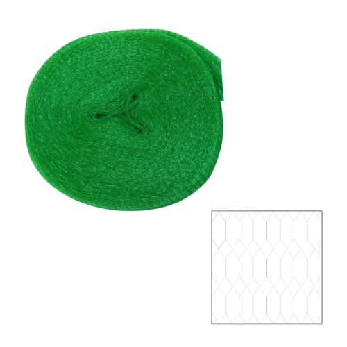 Xclou Teichabdecknetz engmaschig in Grün - Vogelschutznetz 8 x 8 mm für Balkon & Garten - Vogelnetz 8 x 8 mm Maschen - Teichnetz feinmaschig - Abdecknetz für Pool & Teiche - Laubschutznetz / Laubnetz, ca. 8 x 8 m