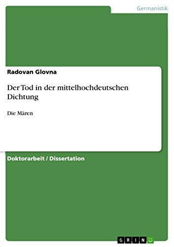 Der Tod in der mittelhochdeutschen Dichtung: Die Mären