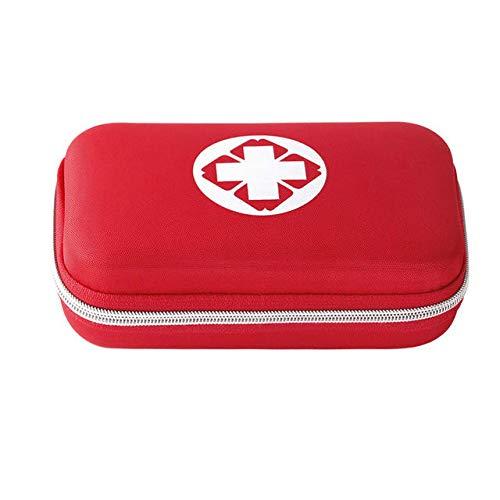 WZRY Sacchetto, Giocatore di Emergenza di Sicurezza di Viaggio di Famiglia Kit di Emergenza Trattamento Medico Portatile Outdoor Impermeabile Eva Kit di Primo Soccorso Borsa (Color : Red)