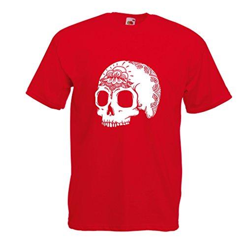 N4602 Camiseta The Fashion Skull (Medium Rojo Multicolor)