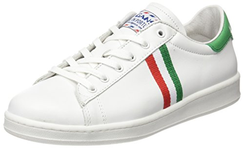 El Ganso Low Top Blanca Bandera Italia - Zapatillas, Unisex, Color Blanco, Talla 37