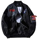 ROSEUNION NASA Chaqueta Ma-1 Impresión Cierre De Cremallera Jacket Sporty Bomber Suelto...
