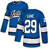 HZIH Eishockey Trikots Winnipeg Jets # 29 Laine gestickte Mens Breathable Sweatshirts, langärmliges Oberhemd,M