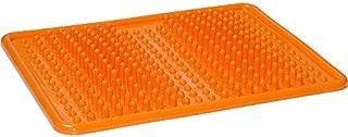 Foot Massage Mat, Reflexology Foot Mat for Plantar Fasciitis, Acupressure (Orange)