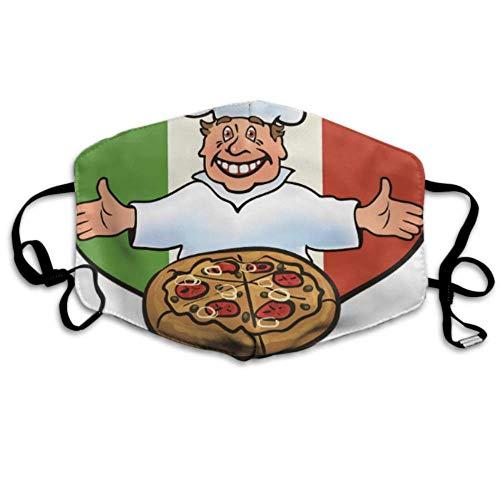 Kochen Sie Pizza auf Italienischer Flagge Big Mouth Cover Mundabdeckung Staubabdeckung Mundabdeckung