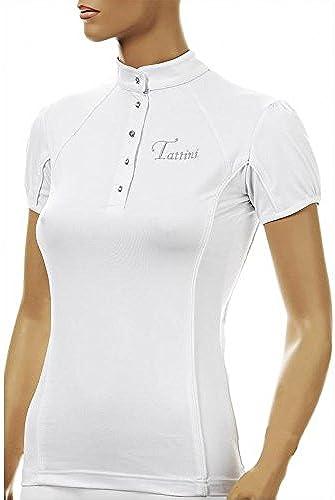 Tattini Polo Boutons Strass Blanc S