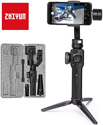 Zhiyun Smooth-4 Mobile Gimbal - Cámara Lenta, Color Gris metálico