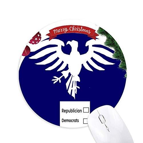 Wer hält Amerika USA Eagle Round Rubber Mouse Pad Weihnachtsbaum Mat