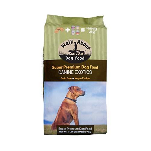 Walk About Pet, WA10037, Super Premium Canine Exotics Dog Food, Dry Alkaline Kibble, Vegan Recipe, Grain-Free, Gluten-Free, Single Source Protein, 7-Pound Bag