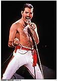 Queen Freddie Mercury - Los Angeles 1982 Unisex Póster Standard, Papel,