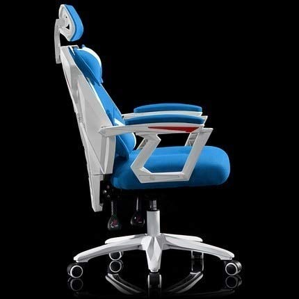 SJVR Gaming Chair, ergonomic office chair Computer Chair, gaming chair for kids Luxury Quality Esports Gaming Armchair Breathable Cushion Lacework Office Chair Wheel Household Steel Feet Gamer blue