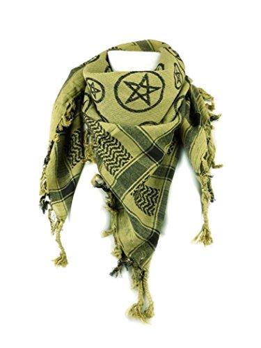Foulard de l'OLP orné d'un pentagramme Jaune fluo