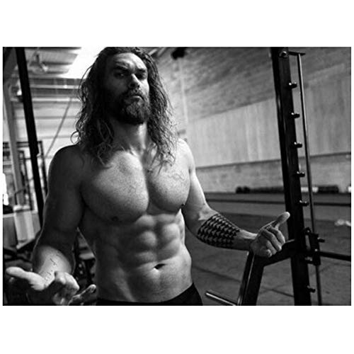 DNJKSA Jason Momoa - Aquaman Drago Cao GOT USA Schauspieler Kunst Poster Druck LeinwandWohnzimmer Bilder Home Decor-60x80cm No Frame