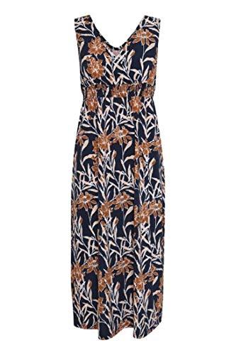 fransa Damen Kleid - Jersey Kleid mit Alloverprint, Mehrfarbig (Navy Blazer Mix 200119), 38 (Herstellergröße: M)