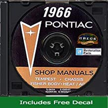 1966 Pontiac Shop Service Repair Body Manual CD 66 (with Bonus Decal)