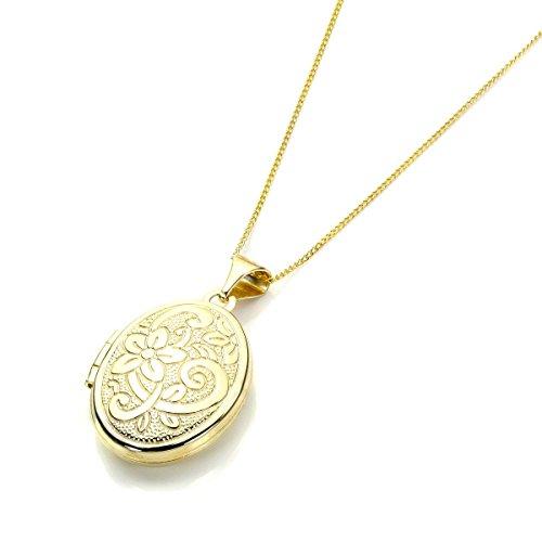 Medaglione ovale in Oro 9kt / Ciondoli/Ciondolo/Collane
