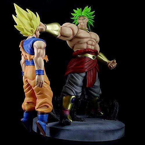 BHNACM Carácter De Dragon Ball Broly Batalla VS Son Goku Escena De Escritorio De La Figura De Acción De Animación Modelo De La Decoración Estatua