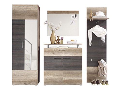 trendteam Garderobe Garderobenkombination 4-teiliges Komplett Set Polo, 230 x 191 x 37 cm in Eiche...