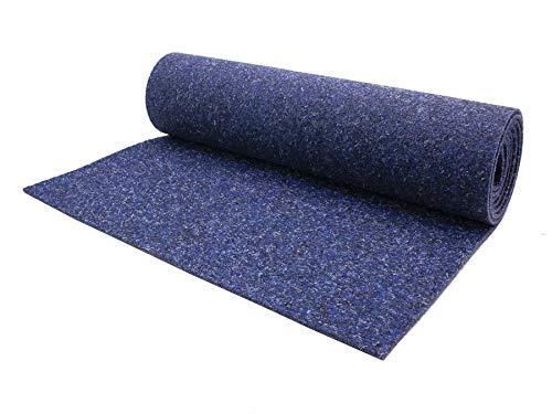 Naaldvilt tapijtvloer per meter MERLIN moeilijk ontvlambaar - vloerbedekking legware per meter, antistatisch, duurzaam, naaldvlies kantoor beurs tapijtvloer 2,00m x 15,00m donkerblauw